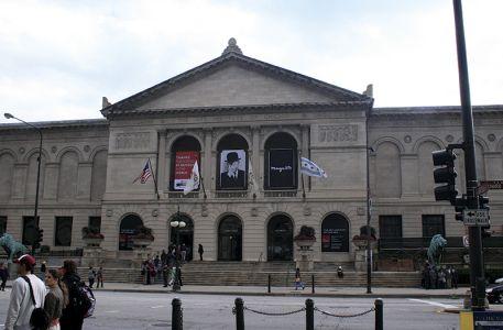 シカゴ美術館、正面から