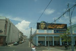 キューバ革命の英雄、チェ・ゲバラの肖像は各地に見られた。観光客向けのグッズも多い