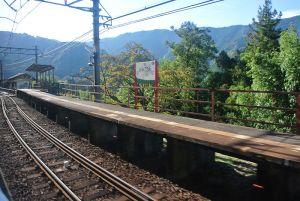 高野山への途中の山合いの駅
