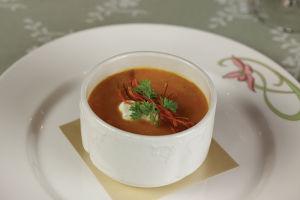 カレー味キャロットとアップルのスープ