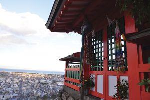 神倉神社と眼下に広がる新宮市