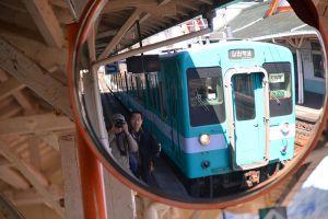 那智駅でローカル線を待つ