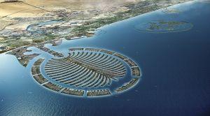 アラビア海に浮かぶ人工島のパーム・ジュメイラ