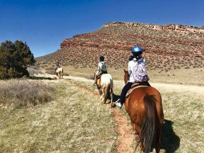 自分で手綱を操作するのはなかなか難しいが、ラブランドの大自然での乗馬体験は爽快