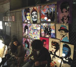 フレンチメン・ストリートのアートマーケット