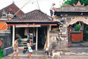 バリの小さな村