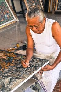 ウブドのアーティスト、 ケトゥッタ・バワさん