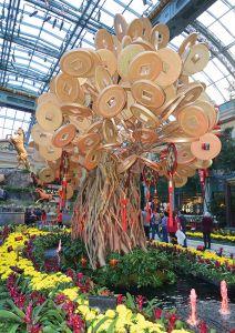 「ベラージオ」に飾られたお金の成る木