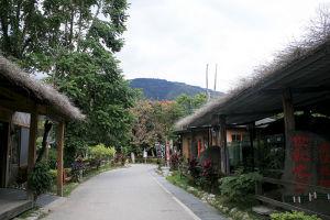 台東にある先住民の布農部落。観光客向けの宿泊設備もある