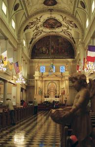 ジャクソン・スクエアにあるセントルイス大聖堂の中