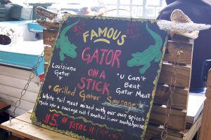 フレンチ・マーケットでは、ニューオーリンズの名物料理が楽しめる