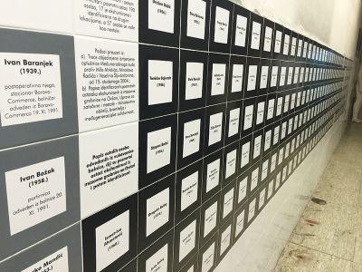 病院の壁には、虐殺された犠牲者の名前が記されている。この病院からだけで、261人が収容所送りとなり、200人が処刑された。61人が行方不明。生存者は6人だった
