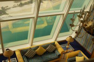 「バージュ・アル・アラブ」の客室からの眺め