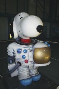 宇宙飛行士になったスヌーピー