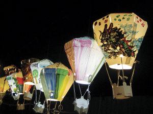 台東の公園を飾る灯籠