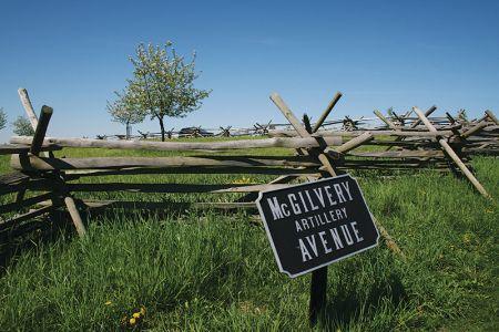 ゲティスバーグの戦場跡に残る木のフェンス