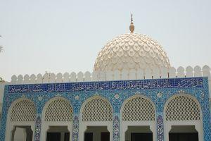 ドバイ市内のモスクの美しい装飾
