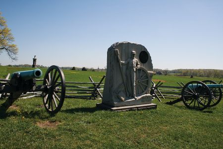 北軍のニューヨークの連隊の記念碑