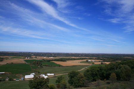 アイオワの農業地帯の豊かな風景