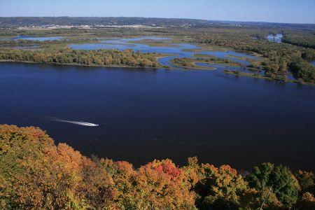 パイクス・ピーク州立公園から眺めるミシシッピ川