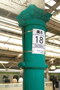 JR東京駅の5・6番線ホームには、開業当時から残っている鋳鉄柱がある。現在、ホーム屋根の建て替え工事が進んでおり、柱も近く撤去される予定