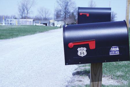 ルート66沿いの郵便受け