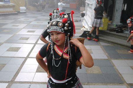 タイ北部の山岳少数民族の子供たち