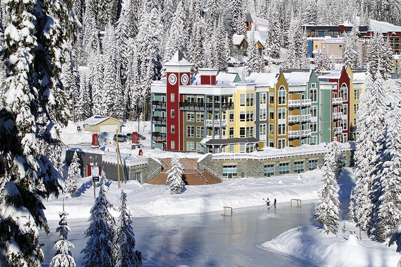 ビクトリアン・スタイルの建物が可愛い Silver Star Mountain Resort