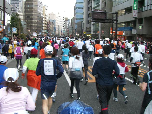 2009年に参加した東京マラソン Photo © Chizuko Higuchi