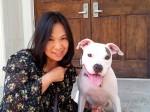 愛犬ノアと「一心同体」の関係でいることが日頃からの目標 Photo © Maho Teraguchi