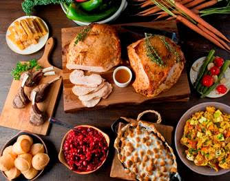 Thanksgiving spread at Fogo de Chão