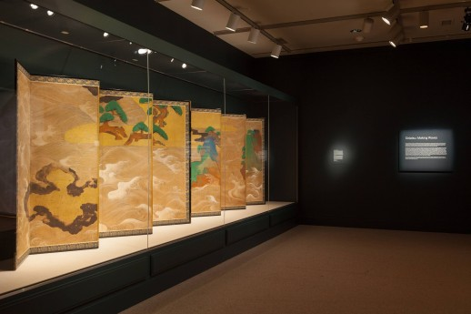 "Gallery view, ""Sōtatsu: Making Waves,"" Arthur M. Sackler Gallery, Smithsonian.  Photo by Neil Greentree."