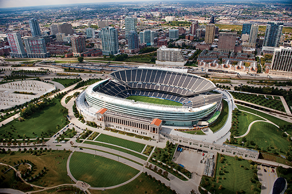 シカゴ・ベアーズの本拠地、ソルジャーフィールド© City of Chicago