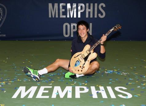 Nishikori at the 2015 Memphis Open (提供写真)