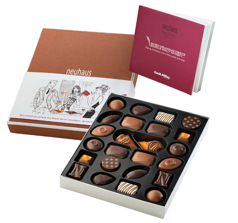 Neuhaus Whiskey 24-piece Box Courtesy of Neuhaus