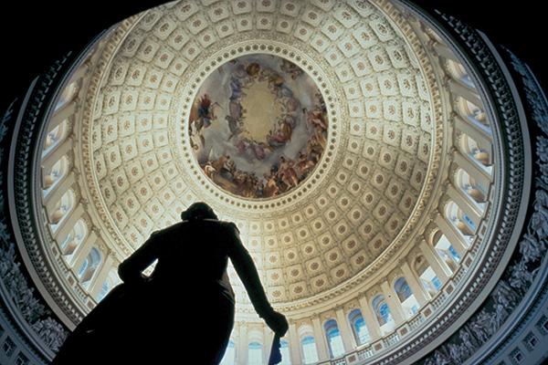 大統領の就任式が行われるキャピトル。内部の装飾も美しいCourtesy of Destination DC