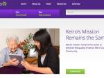「Keiro's Mission Remains the Same」と書かれた、敬老シニアヘルスケアのウェブサイト