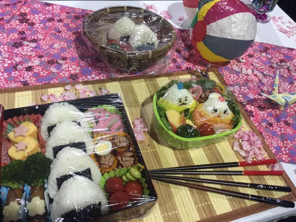 日本のおいしいお米の紹介や、「キャラ弁」の展示も Photo © Mirei Sato