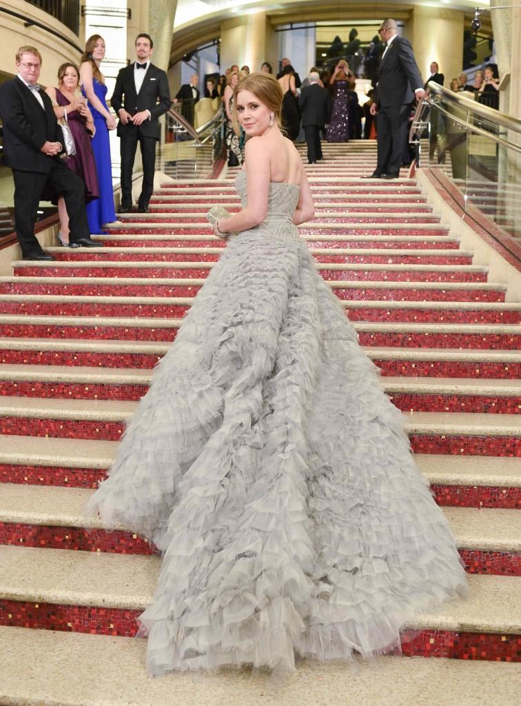 2013年のアカデミー賞授賞式で女優エイミー・アダムスが着たドレス Photo by George Pimentel/Getty Images