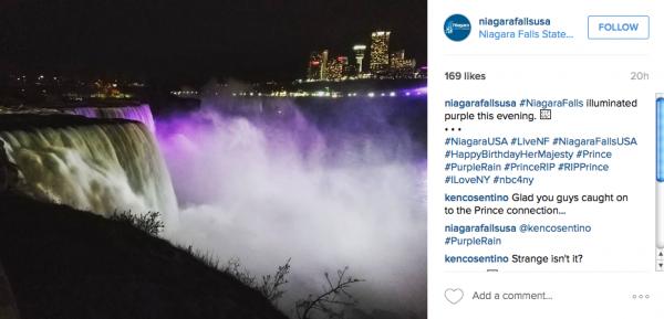 ナイアガラの滝がインスタグラムに投稿した写真