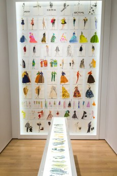 Installation view of assorted sketches from the exhibition Isaac Mizrahi: An Unruly History, March 18-August 7, 2016. © Press Office Cardarelli