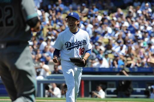 チャリティーのサイン会を企画した前田健太投手 Photo credit: Los Angeles Dodgers/Jon SooHoo