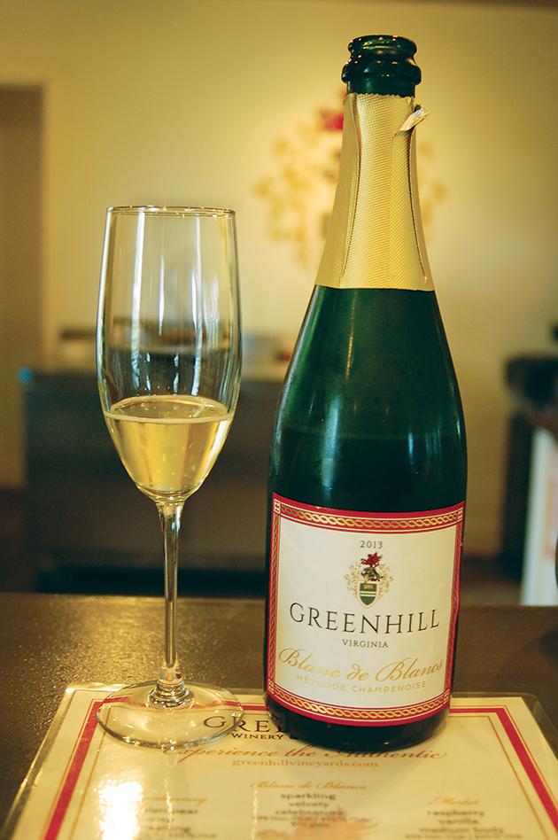 「Greenhill Winery」を一躍有名にしたスパークリングワイン「Blanc de Blancs 2013」 Photo © Mirei Sato