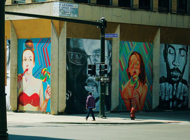 デトロイトのダウンタウン Photo © Mirei Sato