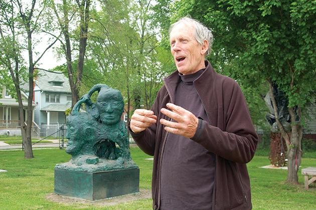 デトロイトの著名なアーティスト、ロバート・セストックさん Photo © Mirei Sato