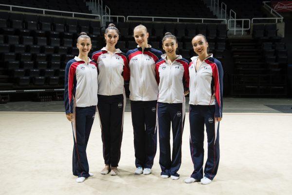 4年間6人で練習を重ねてきたが、舞台に立てるのはこの5人のみPhoto Courtesy of John Cheng/USA Gymnastics
