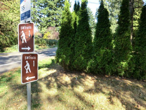トレイルと言っても民家の隣を歩く感じだけど、緑はいっぱい