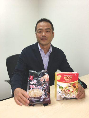 「大麦の認知度をアメリカで上げたい」と語る、はくばくUSAの津田穣さん