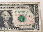 サウスカロライナから来た1ドル札