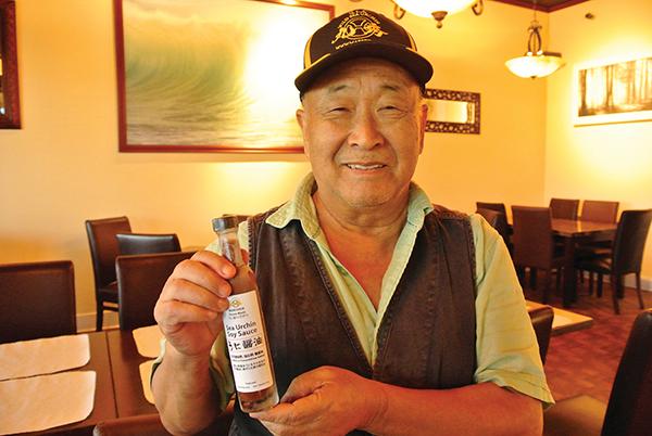 手塩にかけてうに醤油を開発したMaruhide代表の河村英夫さん